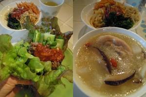 韓国焼き肉とサムゲタン風スープ